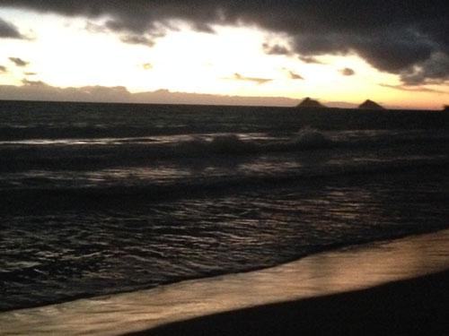 カイルアビーチの夜明け2