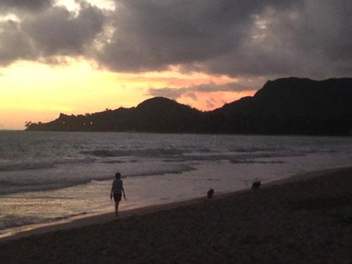 カイルアビーチの夜明け3