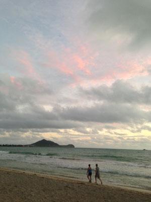 カイルアビーチの夜明け4