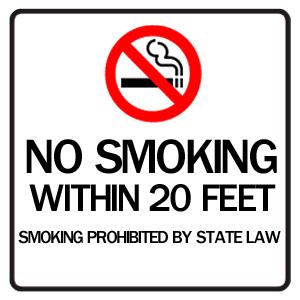喫煙禁止のイメージ図