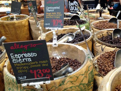 ホールフーズマーケットのコーヒー豆