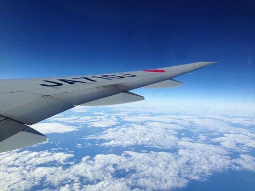 機内からの景色