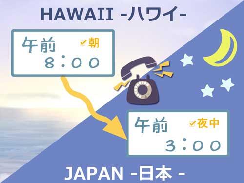 ハワイ時差