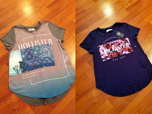 ホリスターのTシャツ