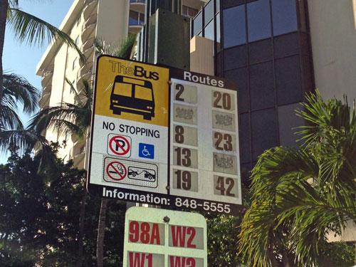 ザバスのバス停