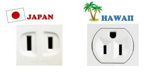 ハワイのコンセントプラグ
