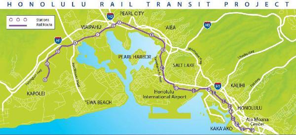ホノルル新鉄道路線