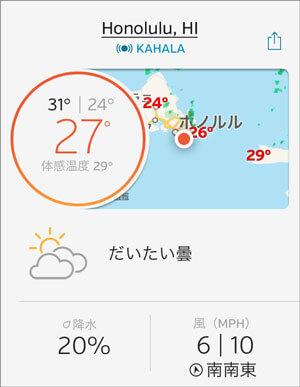 ホノルルの天気