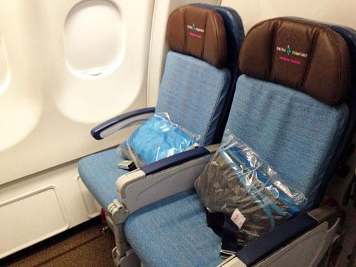 ハワイアン航空の座席