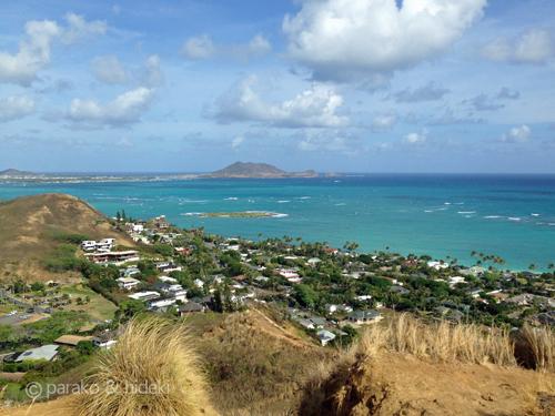 ハワイ ピルボックストレイル 中腹からの眺め