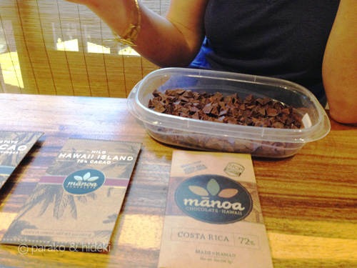 マノアチョコレートの試食