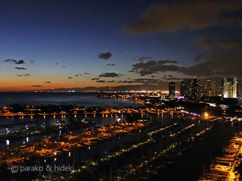 ハワイ イリカイのトワイライト(夜景)
