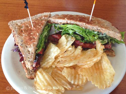 モーニングブリューのサンドイッチ