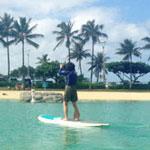 ハワイで楽しむ!スタンドアップパドルサーフィン(SUP)!