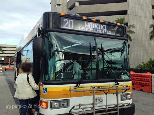 ザ・バス20番(ホノルル空港からワイキキ)