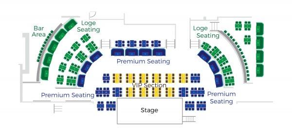 ブルーノートハワイ座席表