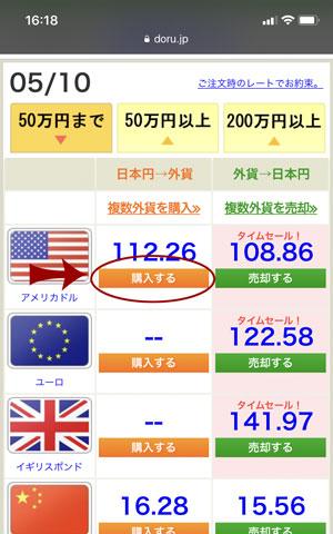 外貨両替ドルユーロで米ドルに両替