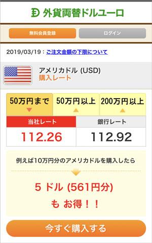 外貨両替ドルユーロで米ドルを購入する