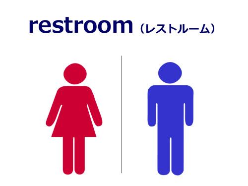 英語でトイレはレストルーム