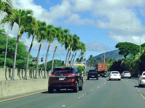 ハワイでドライブ