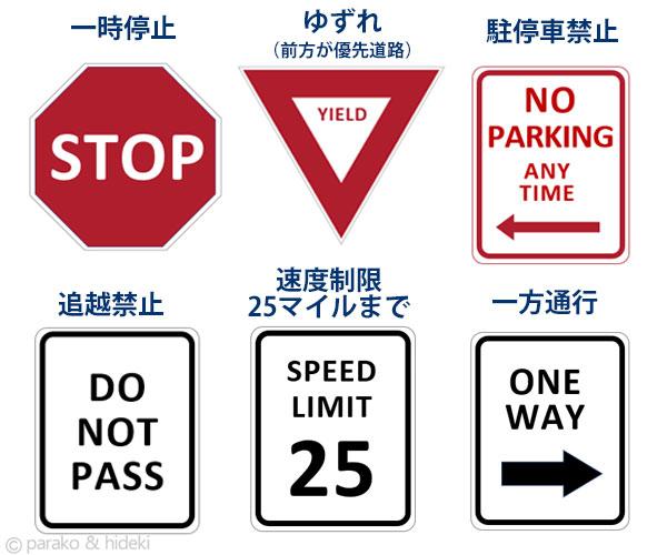 ハワイで見かける交通標識