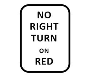 ハワイでは赤信号で右折できない場合もある