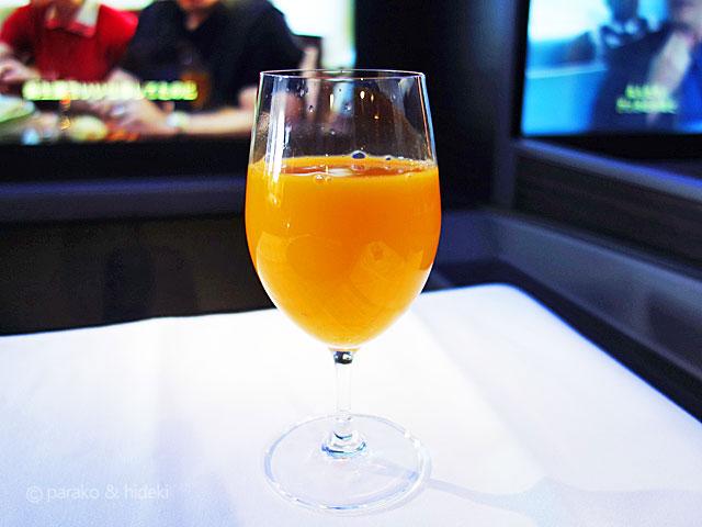 A380(フライングホヌ)ハワイ ファーストクラス 期間限定ドリンク うんしゅう蜜柑
