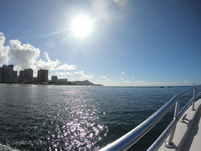 ボートからの景色