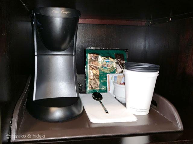 ピンクパレス(ロイヤルハワイアンホテル)コーヒーメーカー