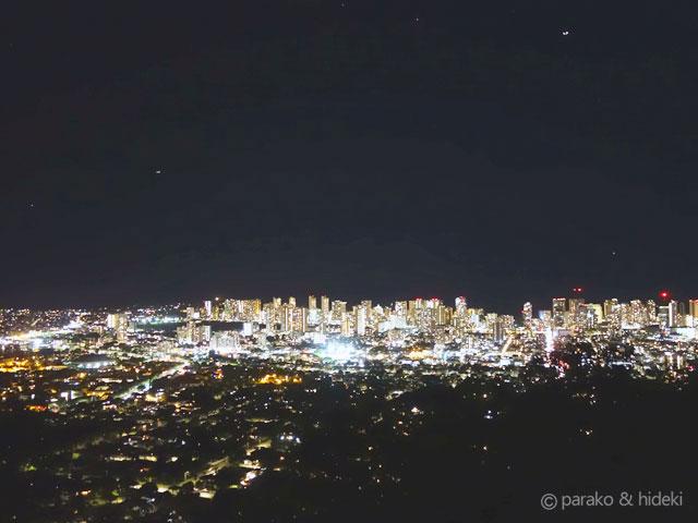 タンタラスの丘夜景(ハワイ)