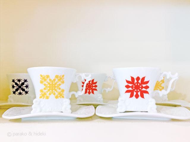 ハワイアンキルト柄カップ&ソーサー