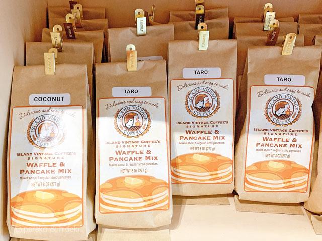 ハワイのアイランドヴィンテージコーヒーのパンケーキミックス